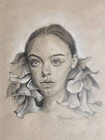 Calla - drawing by Brenda Brudet