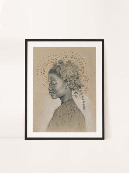 Fa yu kan tak mi no mooi - drawing by Brenda Brudet