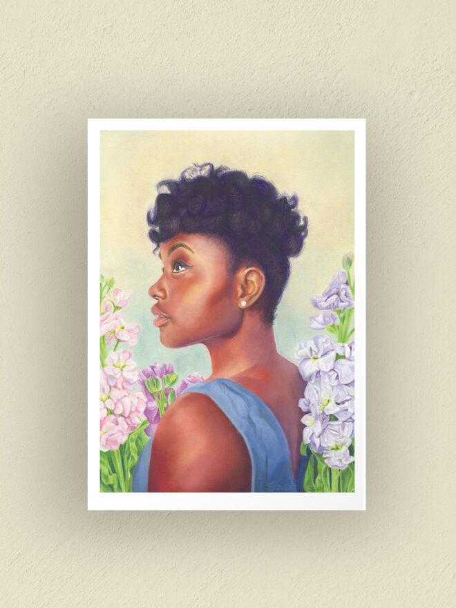 minduful traveler - art print by Brenda Brudet