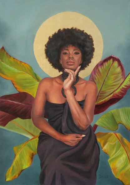 Enthroned - painting by Brenda Brudet