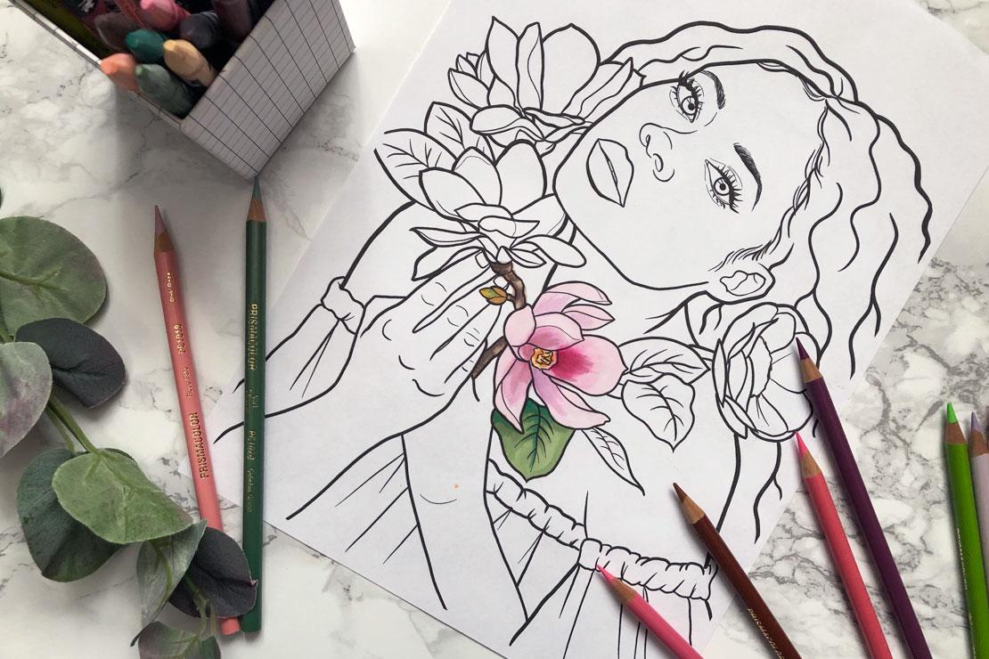 coloringpage magnolia
