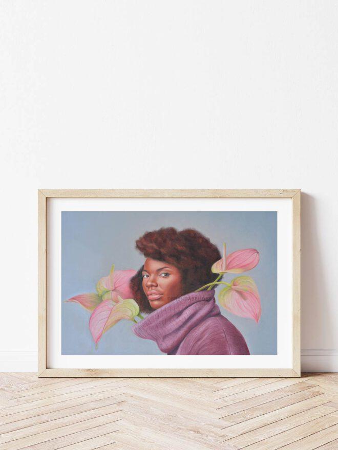 Flowers arising - painting by Brenda Brudet