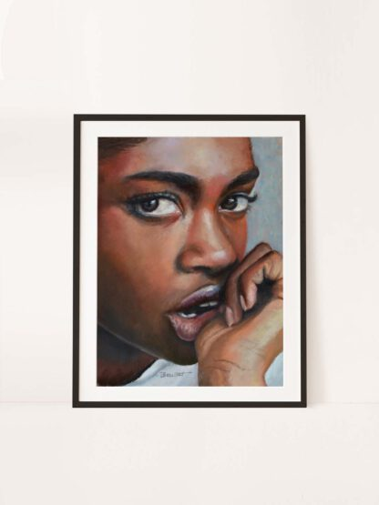 Anticipation - a drawing by Brenda Brudet