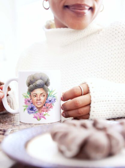 Mug blooming - artwork by Brenda Brudet