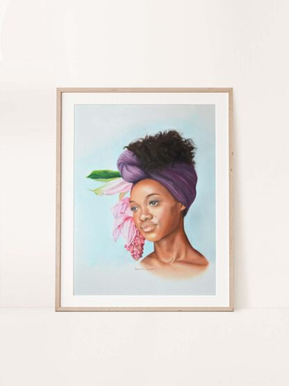 Flower Bearer - a pastel drawing by Brenda Brudet